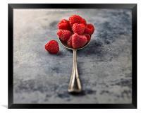 Raspberries, Framed Print