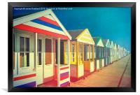 Beach Huts, Framed Print