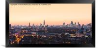 London Landmarks Panorama, Framed Print