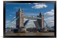 Tower Bridge Open, Framed Print