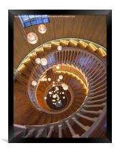 The Spiral Stairs, Framed Print