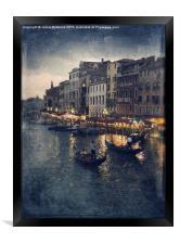 Rialto at night, Framed Print