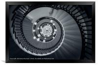 Spiral Staircase, Framed Print