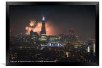 London City Fireworks 2017, Framed Print