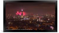 Firework Celebrations over the City, Framed Print
