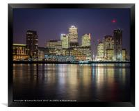 Canary Wharf by Night, Framed Print
