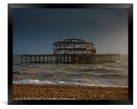 West Pier Ruins, Framed Print