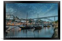 Porto at Dusk, Framed Print