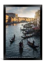 Venetian Gondolas, Framed Print