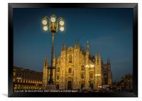 Milan Duomo at Night, Framed Print