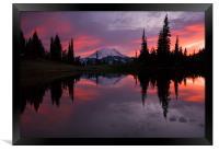 Red Sky at Night , Framed Print