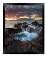 Sunset Caldron, Framed Print