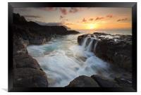 Na Pali Sunset, Framed Print
