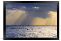 Kayak At Dawn, Framed Print