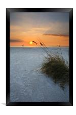 A walk on the Beach, Framed Print