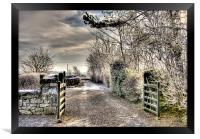 Cottage gate, Framed Print