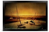 Blakeney Boats 2, Framed Print