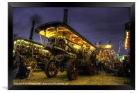 Showmans Engine by night, Framed Print
