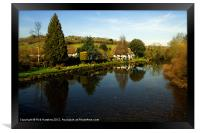 The River Exe at Bickleigh, Framed Print