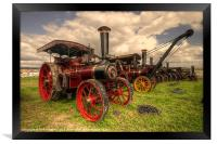 Traction Engines at the Great Dorset, Framed Print