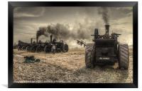 Steaming Giants, Framed Print