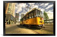 Tram of Rotterdam, Framed Print