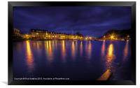Ilfracombe Harbour by Night, Framed Print