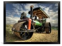 Rolling by steam, Framed Print
