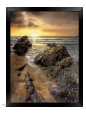 Sunset in Cornwall, Framed Print