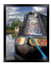 A Dogs Life Afloat, Framed Print