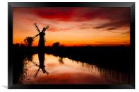 Spring Sunset at Thurne Mill, Framed Print