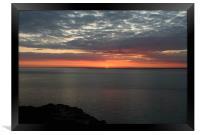Red dusk, Framed Print