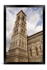 The neo-gothic facade of the Duomo in Florence, Framed Print