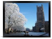 Ely Cathedral in the Snow, Framed Print