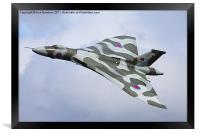 Avro Vulcan bomber XH558 at Abingdon Air Show, Framed Print