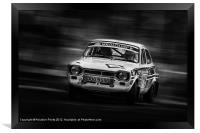 Ford Escort Mk1 tempest rally, Framed Print