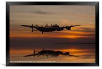 Lancaster Bomber Landfall, Framed Print