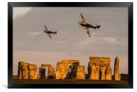 Hurricanes over Stonehenge, Framed Print