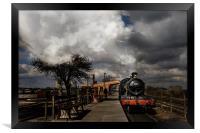 GWR Steam Train at Platform, Framed Print