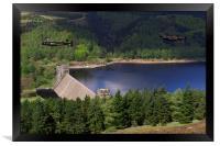 Lancasters over Derwent Dam, Framed Print