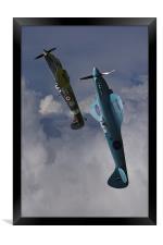 Spitfires topping the loop, Framed Print