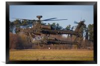 AH64 Apache Longbow, Framed Print
