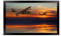 PBY Catalina sundown, Framed Print