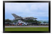 Tornado GR4 low at RIAT, Framed Print