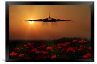Vulcan sunset, Framed Print
