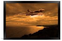 Vulcan Bomber at sunset, Framed Print