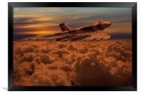 Vulcan Bomber XH558 sunset, Framed Print