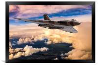 Avro Vulcan bomber XH558, Framed Print