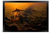 Vulcan bomber sunset, Framed Print