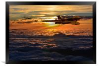 Vulcan bomber sunset 2, Framed Print